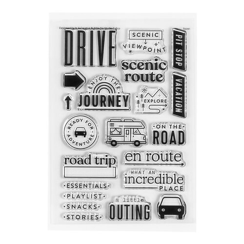 Studio Calico - Clear Photopolymer Stamps - Road Trip