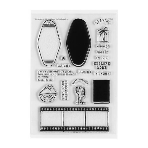 Studio Calico - Find Your Adventure Collection - Clear Photopolymer Stamps - Travel