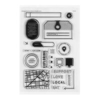 Studio Calico - Clear Photopolymer Stamps - Staycation
