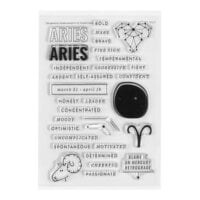Studio Calico - Clear Photopolymer Stamps - Aries Horoscope