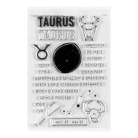 Studio Calico - Clear Photopolymer Stamps - Taurus Horoscope