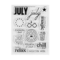 Studio Calico - Clear Photopolymer Stamps - July