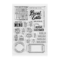 Studio Calico - Clear Photopolymer Stamps - Let's Eat