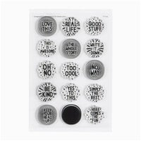 Studio Calico - Clear Photopolymer Stamps - Circle Phrases