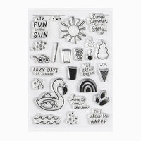 Studio Calico - Clear Photopolymer Stamps - Summer Vacation
