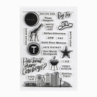 Studio Calico - Clear Photopolymer Stamps - Dallas