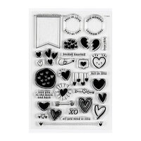Studio Calico - Clear Photopolymer Stamps - Hearts