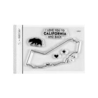 Studio Calico - Clear Photopolymer Stamps - I Love California