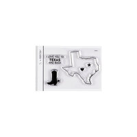 Studio Calico - Clear Photopolymer Stamps - I Love Texas
