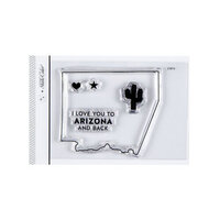 Studio Calico - Clear Photopolymer Stamps - I Love Arizona