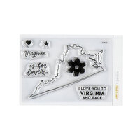 Studio Calico - Clear Photopolymer Stamps - I Love Virginia