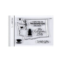 Studio Calico - Clear Photopolymer Stamps - I Love Washington