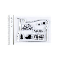 Studio Calico - Clear Photopolymer Stamps - I Love Oregon