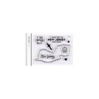 Studio Calico - Clear Photopolymer Stamps - I Love New Jersey