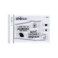 Studio Calico - Clear Photopolymer Stamps - I Love Alabama