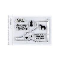 Studio Calico - Clear Photopolymer Stamps - I Love Idaho