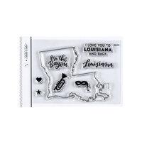 Studio Calico - Clear Photopolymer Stamps - I Love Louisiana