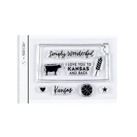 Studio Calico - Clear Photopolymer Stamps - I Love Kansas