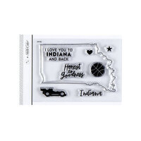 Studio Calico - Clear Photopolymer Stamps - I Love Indiana