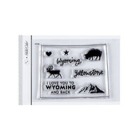 Studio Calico - Clear Photopolymer Stamps - I Love Wyoming