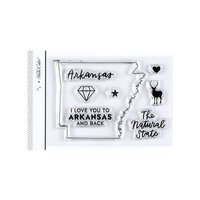 Studio Calico - Clear Photopolymer Stamps - I Love Arkansas