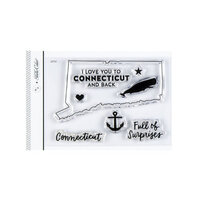 Studio Calico - Clear Photopolymer Stamps - I Love Connecticut