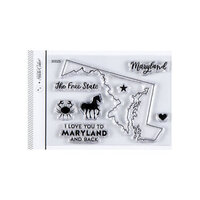 Studio Calico - Clear Photopolymer Stamps - I Love Maryland