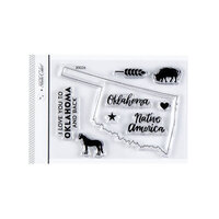 Studio Calico - Clear Photopolymer Stamps - I Love Oklahoma