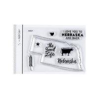 Studio Calico - Clear Photopolymer Stamps - I Love Nebraska