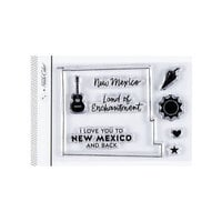 Studio Calico - Clear Photopolymer Stamps - I Love New Mexico