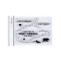 Studio Calico - Clear Photopolymer Stamps - I Love West Virginia