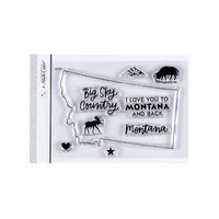Studio Calico - Clear Photopolymer Stamps - I Love Montana