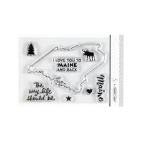 Studio Calico - Clear Photopolymer Stamps - I Love Maine