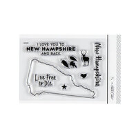 Studio Calico - Clear Photopolymer Stamps - I Love New Hampshire
