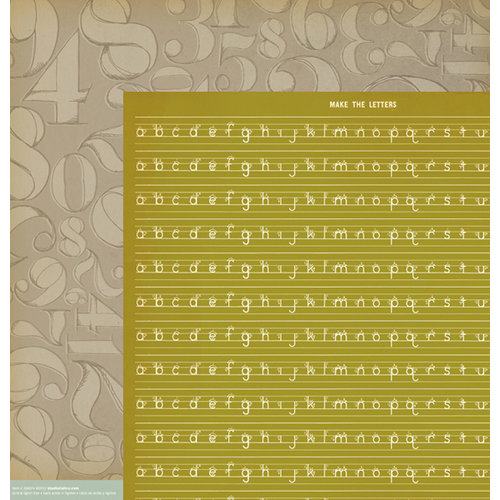 American Crafts - Studio Calico - Yearbook Collection - 12 x 12 Double Sided Paper - Pi
