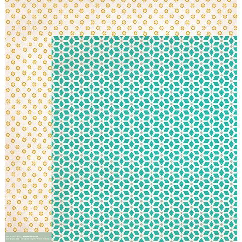 American Crafts - Studio Calico - Yearbook Collection - 12 x 12 Double Sided Paper - Hall Pass