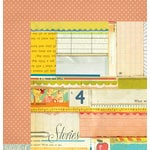American Crafts - Studio Calico - Yearbook Collection - 12 x 12 Double Sided Paper - Text Book