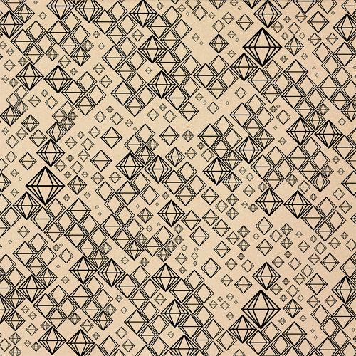 American Crafts - Studio Calico - Darling Dear Collection - 12 x 12 Kraft Paper - Van Dyke
