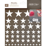 American Crafts - Studio Calico - Yearbook Collection - Thickers - Mistable Fabric Stickers - Stars - White
