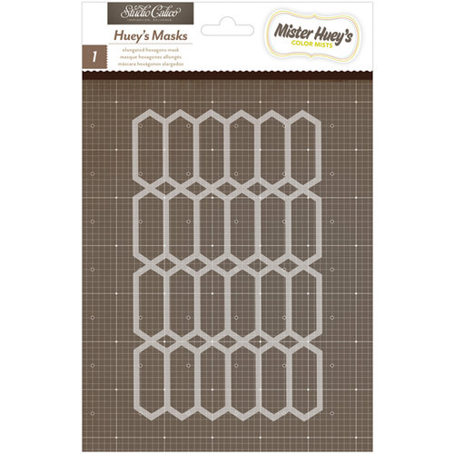 American Crafts - Studio Calico - Mister Huey's Color Mist - Stencils Mask - Elongated Hexagons
