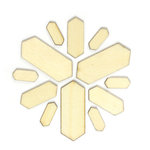 American Crafts - Studio Calico - Yearbook Collection - Wood Veneer Pieces - Elongated Hexagons