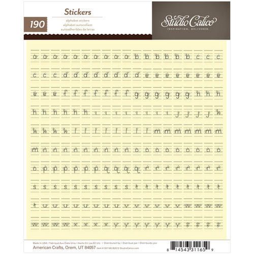 American Crafts - Studio Calico - Yearbook Collection - Cardstock Stickers - Tiny Alphabet