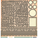 American Crafts - Studio Calico - Yearbook Collection - 12 x 12 Cardstock Stickers - Alphabet Borders and Shapes