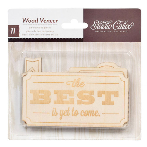 American Crafts - Studio Calico - Darling Dear Collection - Wood Veneer Pieces - Tags and Plates