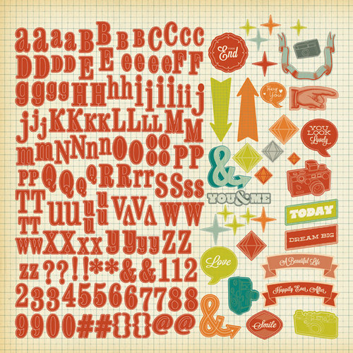 American Crafts - Studio Calico - Darling Dear Collection - 12 x 12 Cardstock Stickers