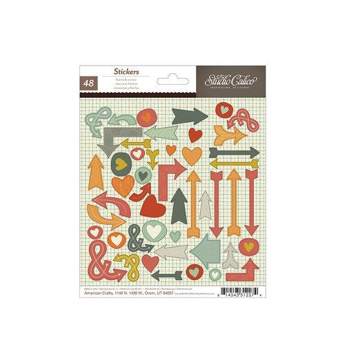 American Crafts - Studio Calico - Darling Dear Collection - Cardstock Stickers - Hearts & Arrows