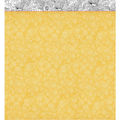American Crafts - Studio Calico - Sundrifter Collection - 12 x 12 Double Sided Paper - Sunny Day