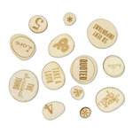 Studio Calico - Sundrifter Collection - Wood Veneer Pieces - Phrases