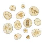 Studio Calico - Sundrifter Collection - Wood Veneer Pieces - Phrases