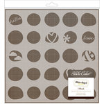 American Crafts - Studio Calico - Sundrifter Collection - Stencils 8 x 8 Mask - 2 Step Stencil
